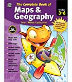Carson Dellosa Complete Book of Maps and Geography Workbook for Kids—Grades 3-6 Map Types, Global Geography, United States Geography and Regions (416 pgs)