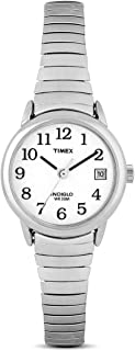 Women's T2H371 Quartz Easy Reader Watch with White Dial Analogue Display and Silver Stainless Steel Bracelet Women's