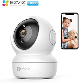 EZVIZ C6N, 1080p WiFi Smart Home Security Camera, Intelligent Surveillance Camera with Night Vision, Smart Tracking, Two-way Audio, White