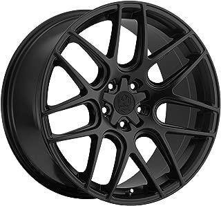 Motiv Magellan 18 Black Wheel / Rim 5x4.5 & 5x120 with a 42mm Offset and a 74.1 Hub Bore. Partnumber 409B-8805742