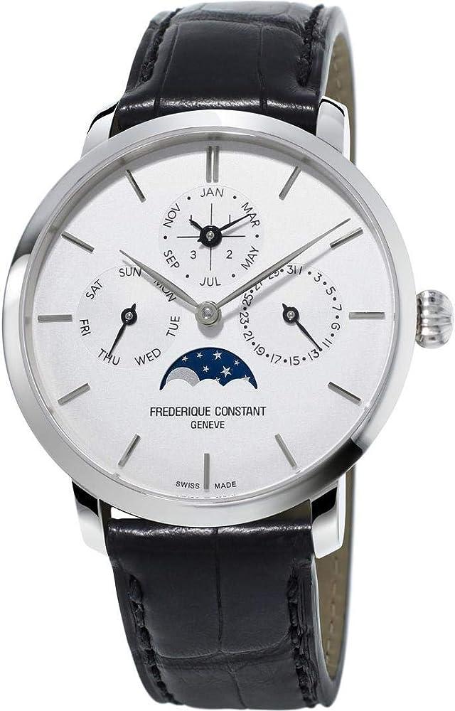 Frederique constant orologio uomo automatico acciaio inossidabile e cinturino in pelle FC-775S4S6