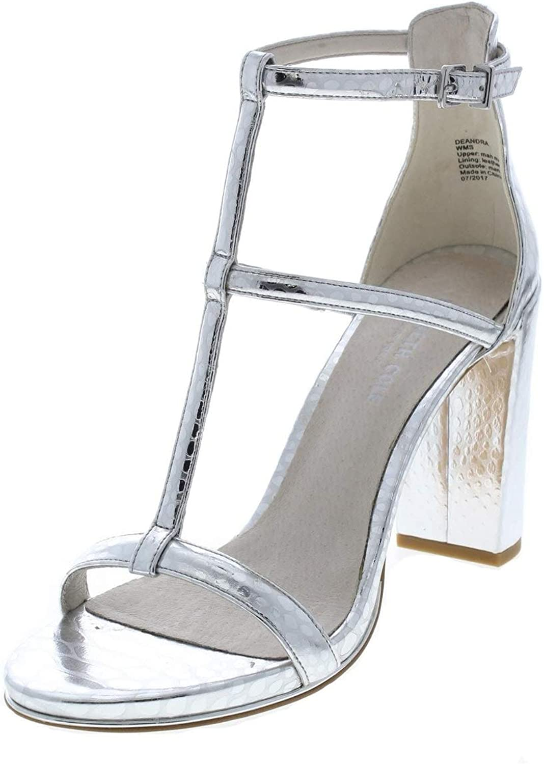 Kenneth Cole New York Deandra Metallic Leather Ankle Strap Heel - Women's