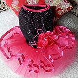 display08 Rose Fleur Gaze Tutu Robe Chiot Chien Princesse Vêtements Costume pour Chihuahua Caniche Yorkshire LNone
