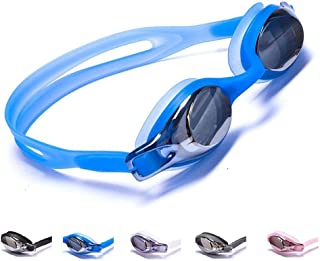 Aguaphile Junior Swimming Goggles for Kids and Early Teens, Soft and Comfortable, Mirrored Anti-Fog UV Protection - Best Junior Swim Goggles - Compare to Speedo or TYR - Premium Quality
