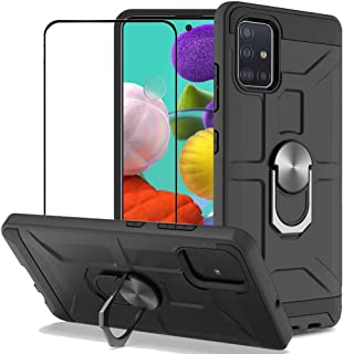 BestAlice for Samsung Galaxy A51 4G Case with Tempered Glass Screen Protector, Hybrid Heavy Duty Protection Defender 360 R...