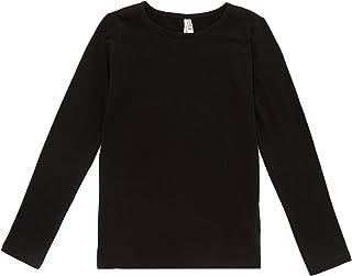 DeFacto Maglietta basic da ragazza, a maniche lunghe, 95% cotone, 5% spandex, per abbigliamento casual, luce e traspirante