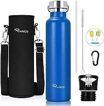 RYACO roestvrijstalen waterfles, vacuüm geïsoleerde dubbelwandige drinkfles BPA-vrije lek bewijs Flask, blijf koud voor 24...