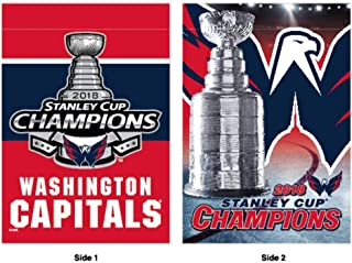 Wincraft Washington Capitals 2018 NHL Stanley Cup Champions Trophy 2-Sided Vertical Flag