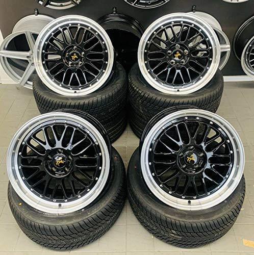 4 x 19 Zoll Keskin KT22 Alu Felgen 8,5x19 5x120 ET35 schwarz Rand poliert für 5er F10 F11 6er F13 F12 F06 X1 E84 X3 E83 F25 X4 F26 X5 E53 Z3 Z4 E85 M-Paket M-Performance CSL NEU Le Mans