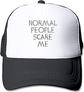 Normal People Scare Me 6 Mesh Baseball Caps Unisex Style Hat Black