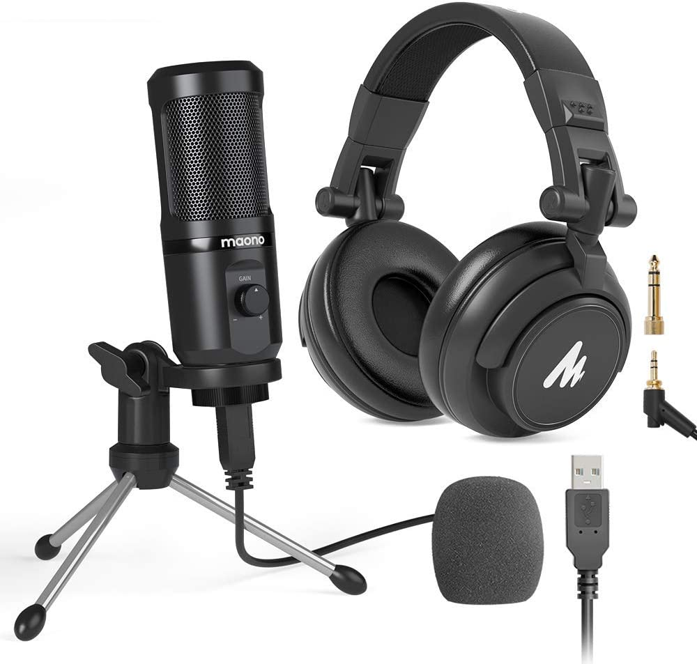 USB Microphone Headphones Kit Computer MAONO Long-awaited Condenser Be super welcome Cardioid