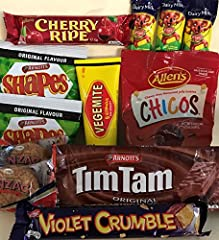 AUSSIE TREATS: Classic Australian treats packed into one great gift box! From the amazing Tim Tam to the quintessential Vegemite there is something for everyone! GREAT FOR AUSSIES MISSING HOME: This is the ultimate gift for any Australian missing hom...