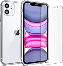 FlexGear Clear Case for iPhone 11 and 2 Glass Screen Protectors (Clear)