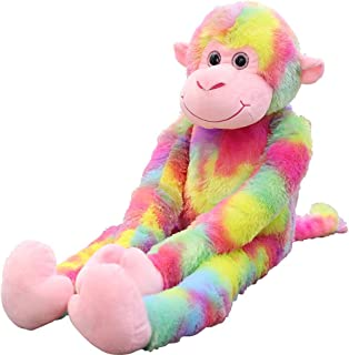 Nicolarisin Colour Long Tail Monkey Plush Deluxe Furry Critter Soft Bed Time Plush Stuffed Animal Toys Stuffed Animal for Home Decor Birthday Gifts Cute Stuffed Animal Toy