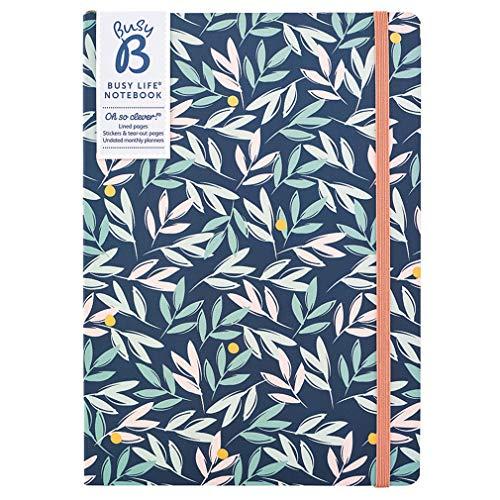 Drukke B Drukke Levensnotitieboek - A5 Bloemen met Stickers en Maandelijkse Planner