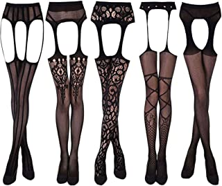 KHUFUZI Women's Sexy Lingerie Babydoll Stretch Stockings Sleepwear Party Dress Gift for Women