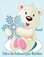 Animali Libro da Colorare per Bambini: Animali da colorare per Bambini Di Età Compresa Tra 4-8 :Simpatico cerbiatto,criceto,delfino,farfalla (Italian Edition)