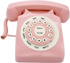 $29 » Retro Corded Landline Phone, TelPal Classic Vintage Old Fashion Telephone for Home & Office, Wired Home Phone Gift for Sen...
