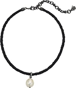Lucky Brand - Pearl Leather Choker Necklace