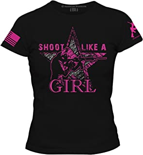 Shoot Like A Girl Womens T-Shirt - American Warrior Collection