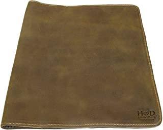 Hide & Drink, Rustic Leather Journal Cover (8.5 x 11 in.) / Refillable Moleskine Cahier XXL Handmade :: Dark Jade