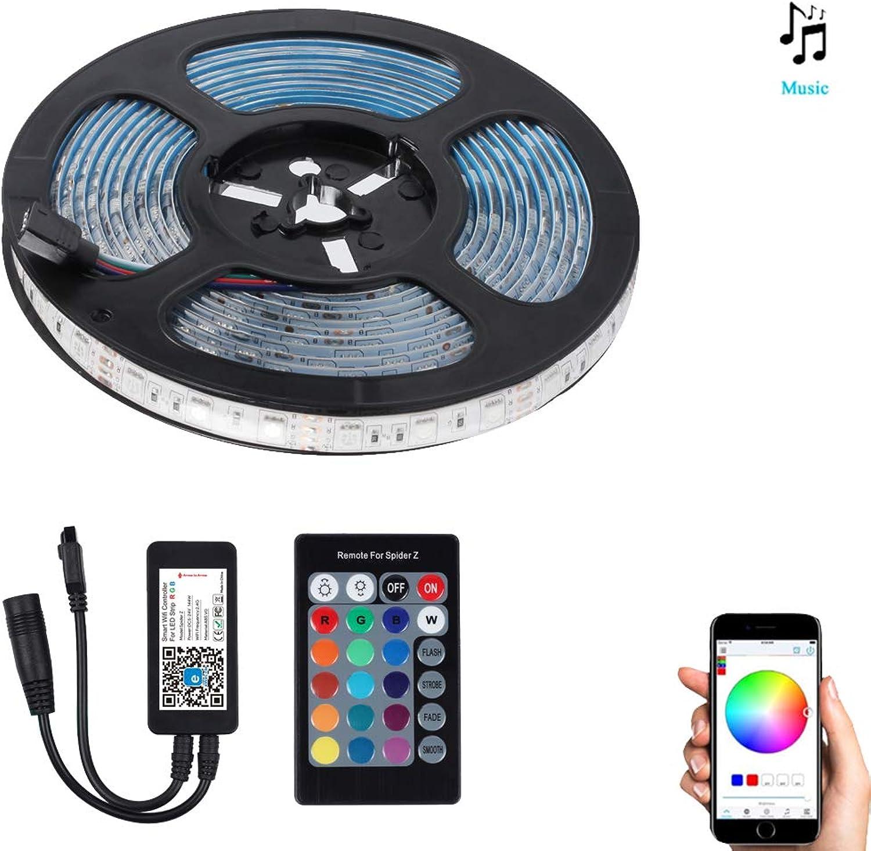 WIFI TV Backlight LED-Streifen Leuchten 24 Schlüssel Infrarot-Fernbedienung 12V 2A Kompatibel Mit Alexa Und Google Home Mit Light Bar