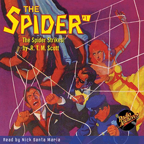 The Spider #1: The Spider Strikes audiobook cover art