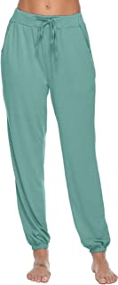 Pajama Pants for Womens Cotton Stretch Knit Lounge Pants Bottoms