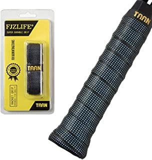 FJZLIFE Tennis Racket Grip in The TAAN Series-Classic -Perforated Super Absorbent-Ultra Cushion Replacement Tennis Overgrip for Badminton,Squash, Baseball, Table Tennis,Bike and More