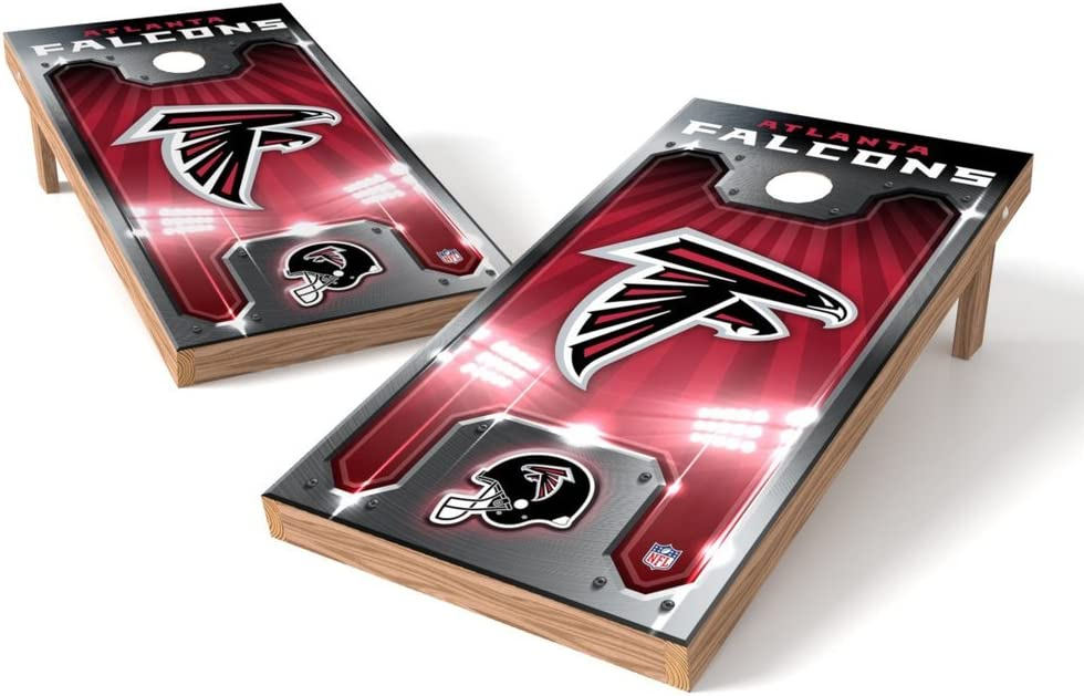 PROLINE Limited time for free shipping NFL Atlanta Falcons Fees free 2'x4' Cornhole Set Board - Plate Des