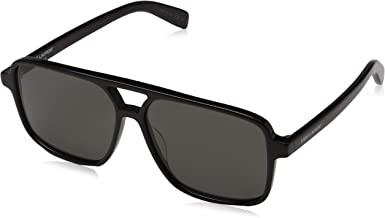 SAINT LAURENT SL 176-001 Black Squared Sunglasses 58mm