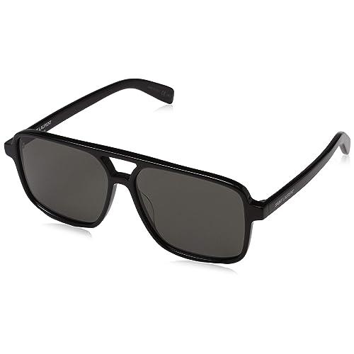 5ea0ee7e0b SAINT LAURENT SL 176-001 Black Squared Sunglasses 58mm