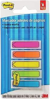 Marcador de Página Adesivo Post-it Flags Setas 5 Cores Neon 11,9 mm x 43,2 mm - 100 folhas
