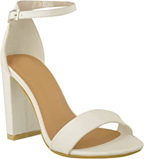 682817f35 Fashion Thirsty Womens Ladies Block High Heels Ankle Strap Sexy Open Toe  Sandals Shoes Size New