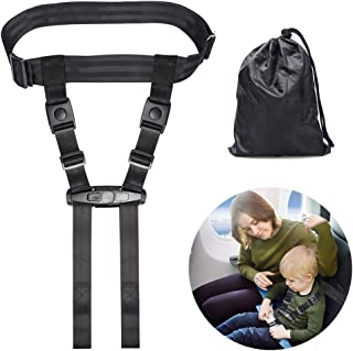 Child Airplane Travel Harness, Travel Safety Harness Airplane Strap, Cares Safety Restraint System for Baby, Toddlers, Kids, Children by Coolrunner(Black)