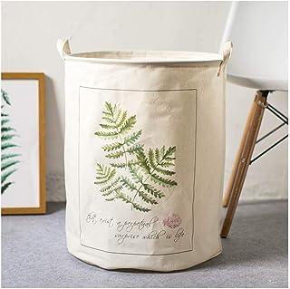 MJY Originalité simple, sans couvercle, panier à linge rond, panier à linge rond, écaille de bambou écaille de tortue 40 *...