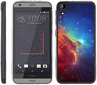 TurtleArmor | Compatible with HTC Desire 530 Case | Desire 630 | Desire 550 [Flexible Armor] Flexible Clear TPU Case Slim Fitted Soft Armor Cover - Colorful Nebula Galaxy