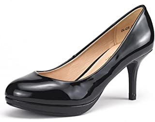 6910f49f72c DREAM PAIRS Tiffany Women s New Classic Elegant Versatile Low Stiletto Heel  Dress Platform Pumps Shoes