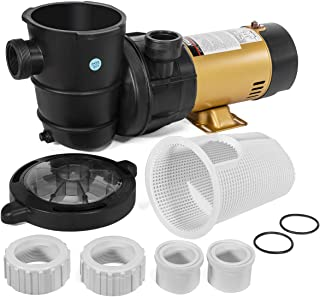 XtremepowerUS 1.5HP 2-Speed Swimming Pool Pump High Flow Variable Speed Above-Ground Swimming Pump Large Strainer