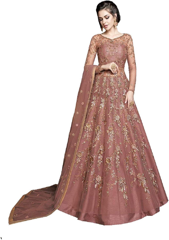 Delisa Indian Pakistani Bollywood Party Wear Long Anarkali Gown for Womens Razzi 1001