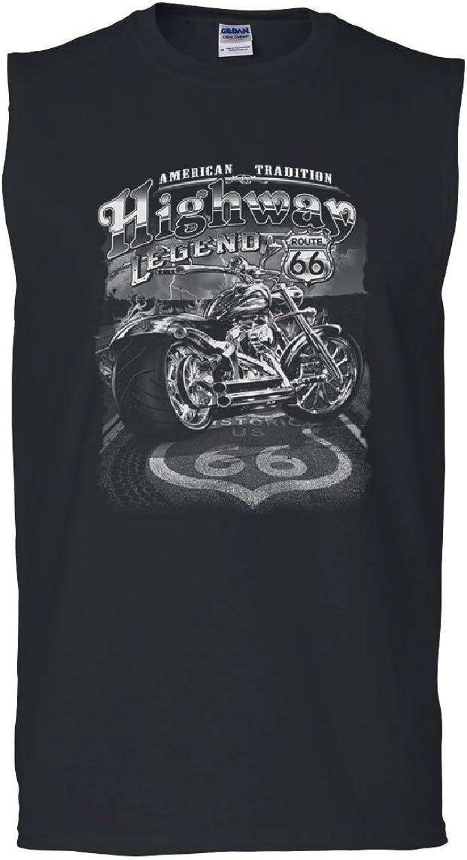 Last Stop Motorcycle Repair Route 66 Highway Chopper Biker T-Shirt Tee