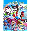 3 IN 1 Rainbow Rangers,T.O.T.S,Sanrio Coloring Book