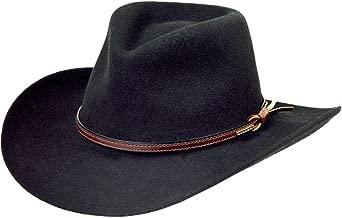 Stetson Men's Bozeman Wool Felt Crushable Cowboy Hat - Twboze-813007 Black