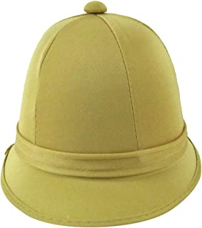 Deluxe Tan Jungle Safari Helmet British Pith Hiking Sun Hat Adult Costume Accessory