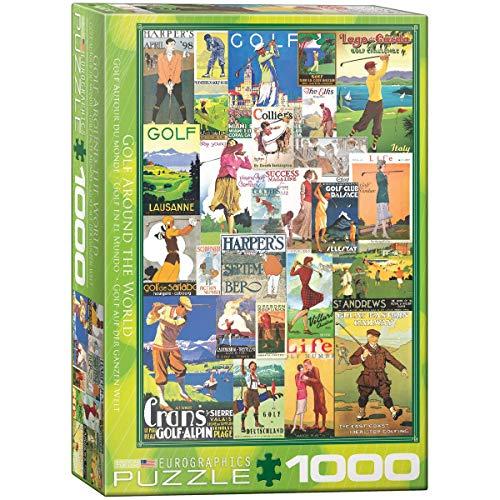EuroGraphics 15.240–2.369,8cm Golf–Vintage Collage Puzzle (1000Teile)