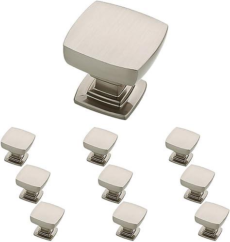 Franklin Brass Parow Kitchen Cabinet Knobs or Drawer Knobs 10-Pack Satin Nickel Cabinet Hardware P29542K-SN-B