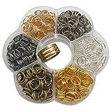 Caja transparente con eslabones, Chenkou Craft, para fabricar llaveros y joyas, eslabones de 6 colores, de 4mm a 10mm, con 1 herramienta para abrir y cerrar eslabones 8 mm transparente