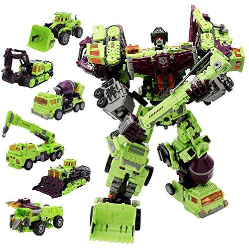 JQ trend おもちゃ 変形 ロボット NBK 重機合体ロボ 6体合体でロボに 6体セット (グリーン)