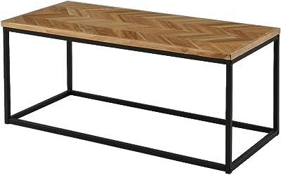 Amazon.com: Mesa de centro, metal cromado, Madera: Kitchen ...