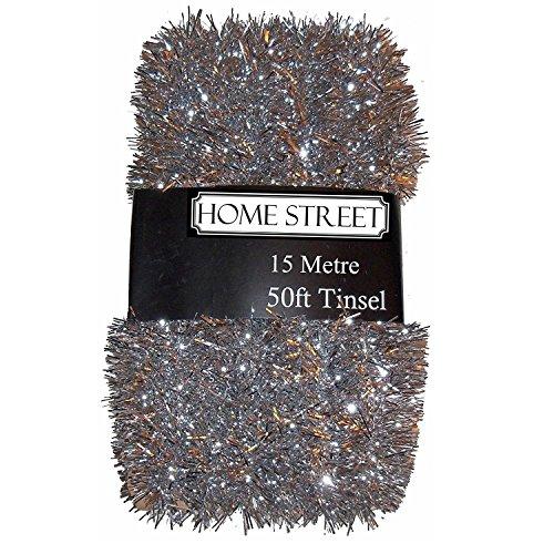 Lametta von Homestreet, extra Lang, verfügbare Farben: Silber, Gold, Rot, 15Meter silber